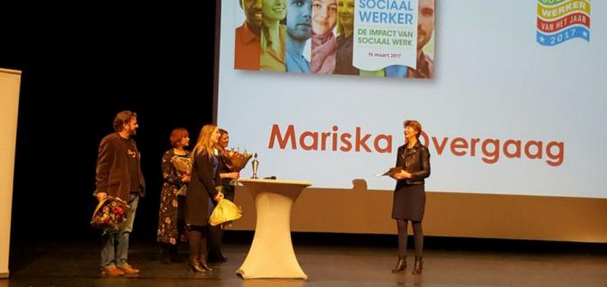 Mariska Overgaag Sociaal Werker van 2017!