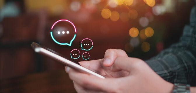 Online chatten met een maatschappelijk werker